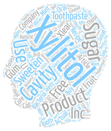 Xylitol text background wordcloud concept