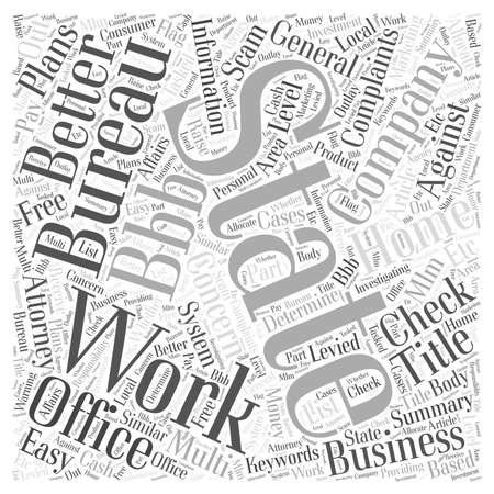 multi level: Work From Home Plans System or Scam Word Cloud Concept Illustration