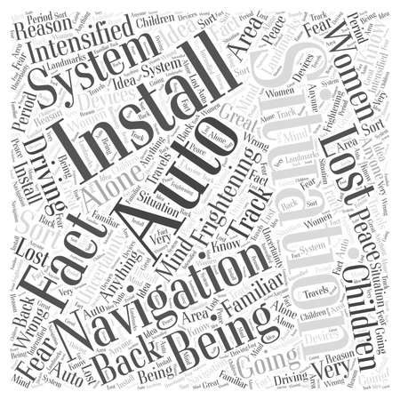Why Install an Auto Navigation System Word Cloud Concept