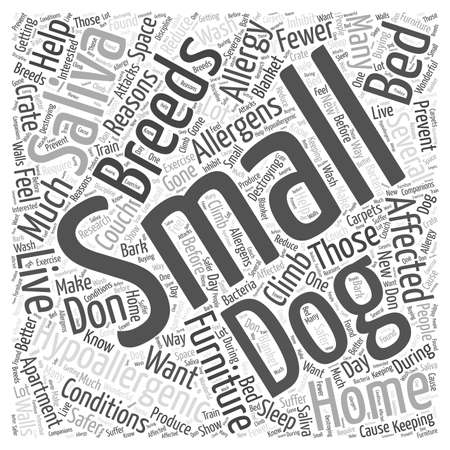 fewer: why do small dogs help with hypoallergenic conditions dlvy nicheblowercom Word Cloud Concept