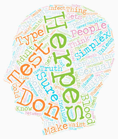 Why Everyone Needs A Blood Test For Herpes text background wordcloud concept