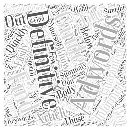Would You Like Adwords Definitive Guide Word Cloud Concept