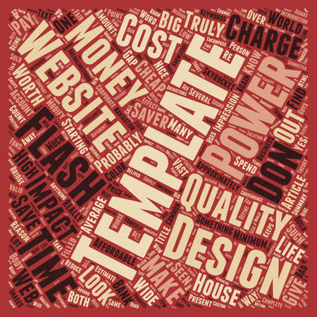 Why Website Templates Are Worth It text background wordcloud concept