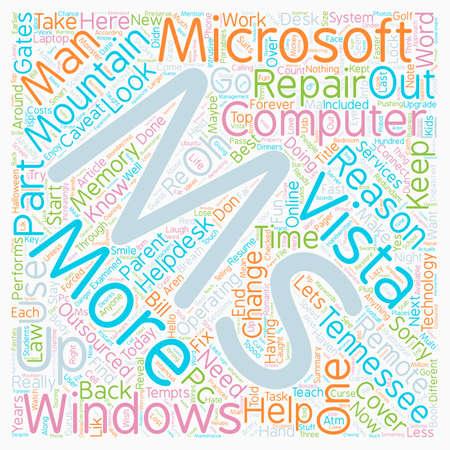 Windows Vista로 변경해야하는 이유 24 부 텍스트 배경 wordcloud 개념 일러스트
