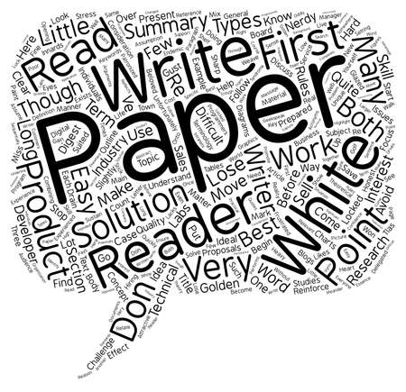 Why Your White Papers Don t Work text background wordcloud concept Illustration