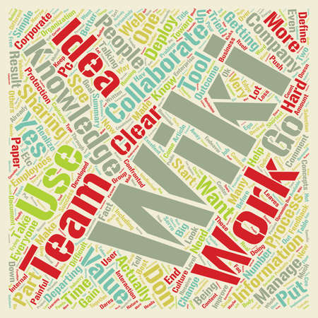 Why Wiki s Don t Work text background wordcloud concept Illustration