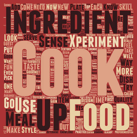 well loved: YES You Can be a Food Gourmet and a Skilled Gourmet Cook Too text background wordcloud concept