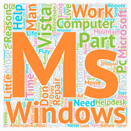 vista: Why Change To Windows Vista Part 3 of 4 text background wordcloud concept Illustration