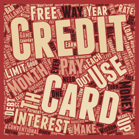 servitude: Why Credit Cards Are Good text background wordcloud concept