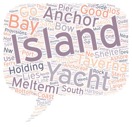 Yacht Charter in the Central Cyclades text background wordcloud concept
