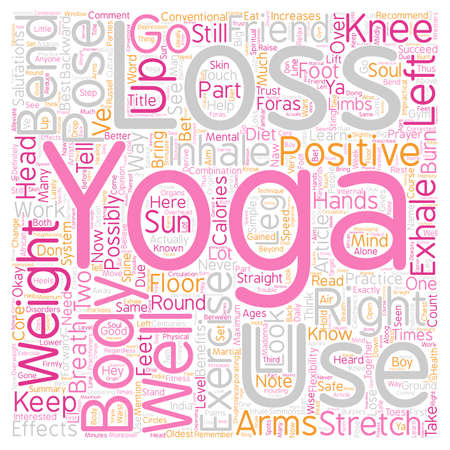 Yoga for Weight Loss What you need know to succeed part 1 text background wordcloud concept