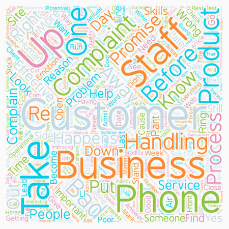 Why Do Your Customers Complain and What Can You Do About It text background wordcloud concept Çizim