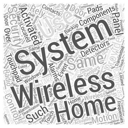 wireless security systems brought by nicheblowercom Word Cloud Concept Illustration