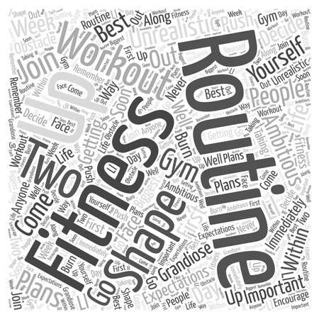 workout routine Word Cloud Concept Illusztráció