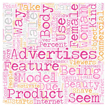 Women in Advertisements text background wordcloud concept