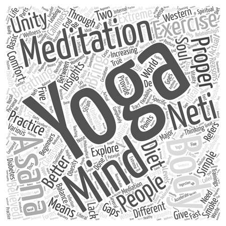 yoga meditation: Yoga meditation Word Cloud Concept Illustration