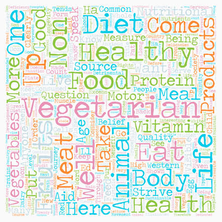 Why Eat Vegetarian text background wordcloud concept Illustration