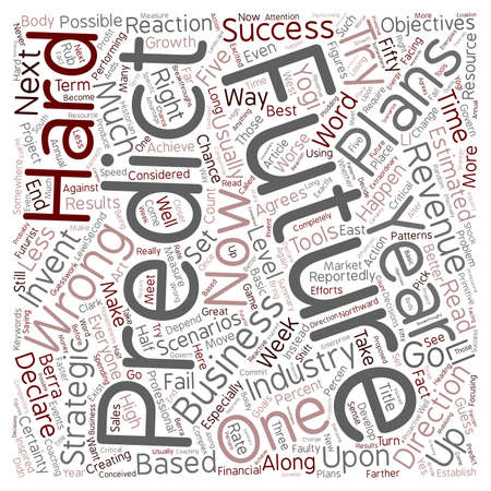 Why Predict The Future text background wordcloud concept