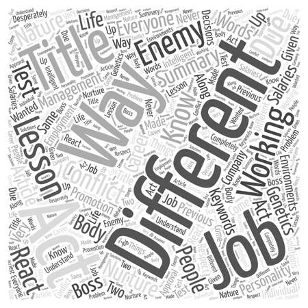 react: Working For The Enemy A Lesson In Conflict Management Word Cloud Concept