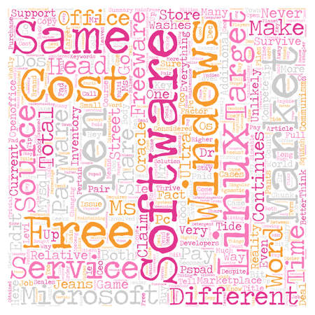 Why Linux And Windows Will Never Do Your Laundry text background wordcloud concept