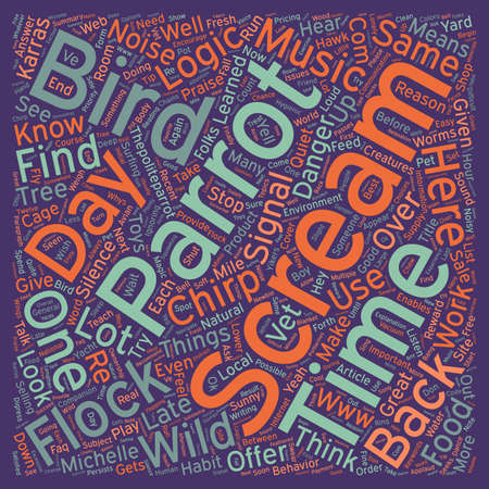 Why do birds scream text background wordcloud concept