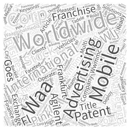 internationally: WORLDWIDE MOBILE MARKETING CORP GOES INTERNATIONAL Word Cloud Concept