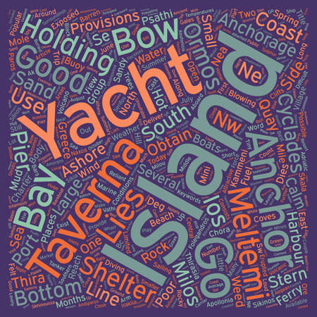 Yacht Charter in the Southern Cyclades text background wordcloud concept