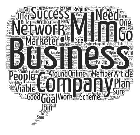 How To Build A Viable MLM Business text background word cloud concept