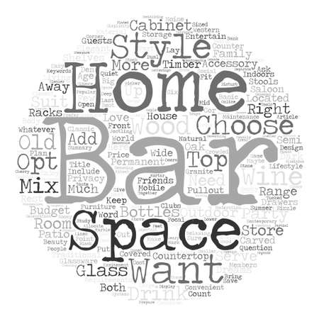 articles of furniture: How To Choose The Right Home Bar For You text background word cloud concept