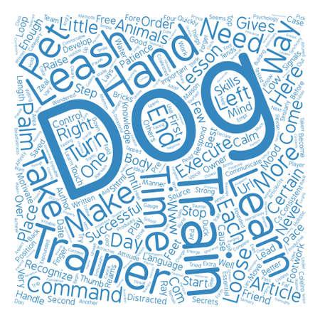 なる A 成功したドッグ トレーナー テキストの背景単語雲の概念