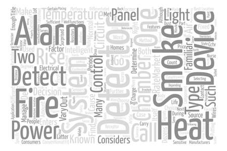 right choice: How To Choose The Right Fire Detector text background word cloud concept