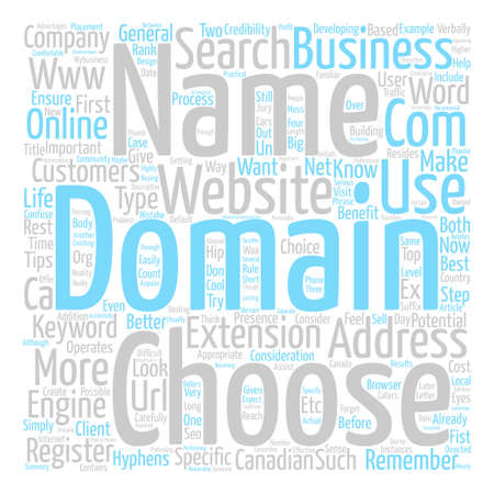 How To Choose A Domain Name For Your Business Word Cloud Concept Text Background