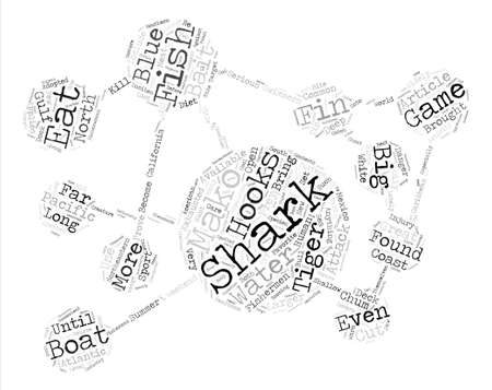 How To Catch Sharks text background word cloud concept