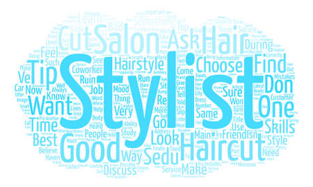 How to Choose the Best Hair Stylist for Your Sedu Hairstyle text background word cloud concept