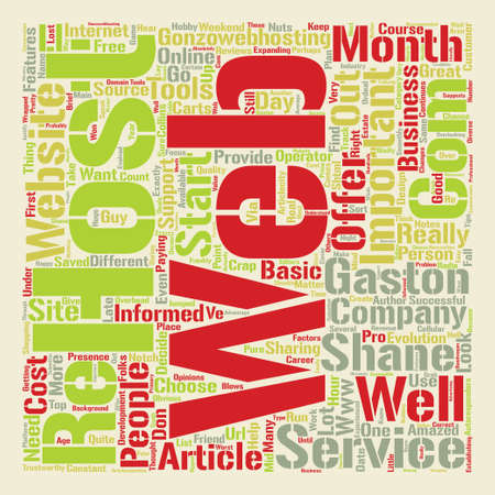 How to Choose the Right Web Host for Your Website text background word cloud concept