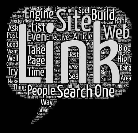 ultimately: How To Build Great Links For Your Web Site text background word cloud concept