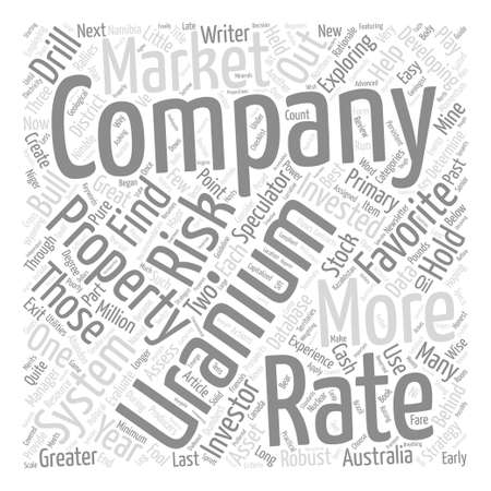 uranium: How To Rate Your Favorite Uranium Company text background word cloud concept