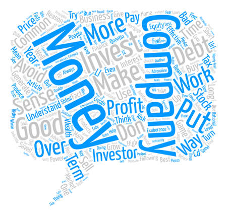 investor: Principles for the Common Sense Investor text background word cloud concept
