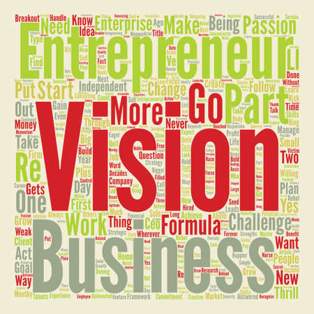 Formula to Start Your Own Business Word Cloud Concept Text Background Illustration