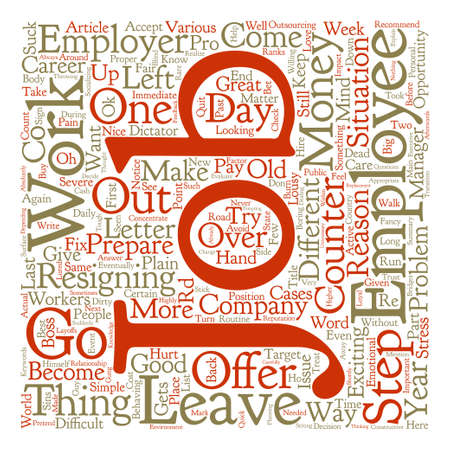 quit: How To Quit A Job text background wordcloud concept