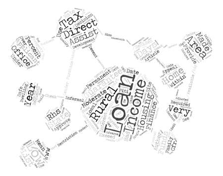 low income housing: How to Get a Government Home Loan with Low or Moderate Income text background word cloud concept
