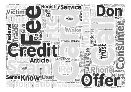 Steps to avoid Credit Card Scams text background word cloud concept Illustration