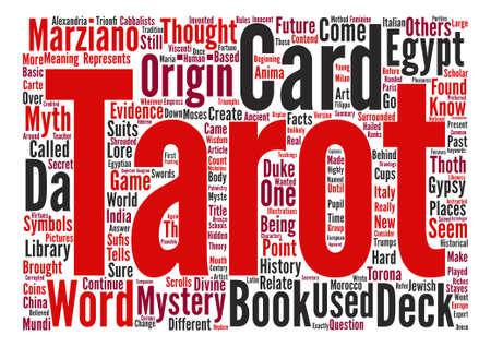 Orígenes e historia del concepto de nube de palabras de fondo de texto de Tarot