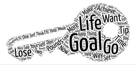 How To Set And Achieve Your Goals Word Cloud Concept Text Background Illustration