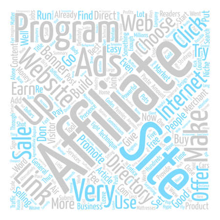 How You Could Make Money With Affiliate Programs text background word cloud concept