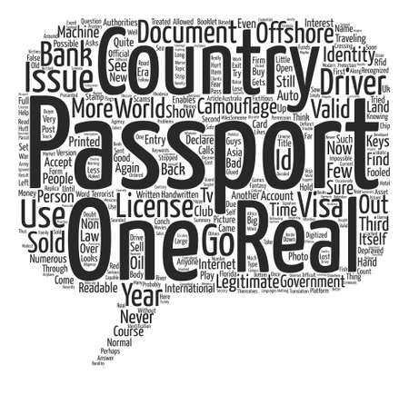 Identity Document Scams text background wordcloud concept