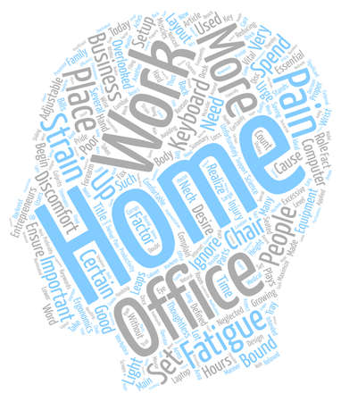 fact: Why A Good Home Office Setup Is Essential For Work From Home Entrepreneurs text background wordcloud concept