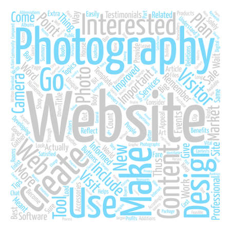 New cameras provide good content for a photography website text background wordcloud concept
