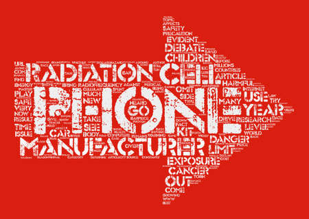 Cell Phone Safety text background word cloud concept Illustration