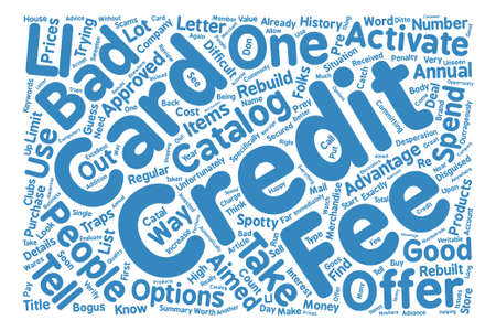 Credit Card Traps text background word cloud concept
